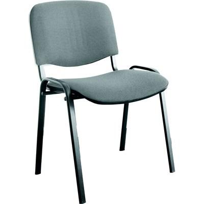 Посетителски стол ISO сив
