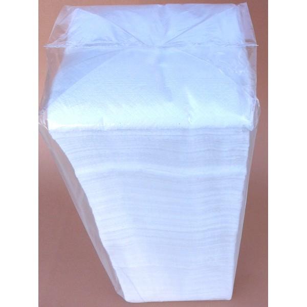 Салфетки 33x33см бели оп.500