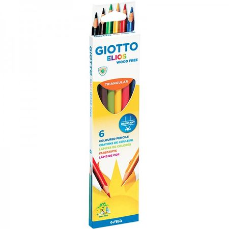 Цветни моливи Giotto Elios Tri 6 цвята