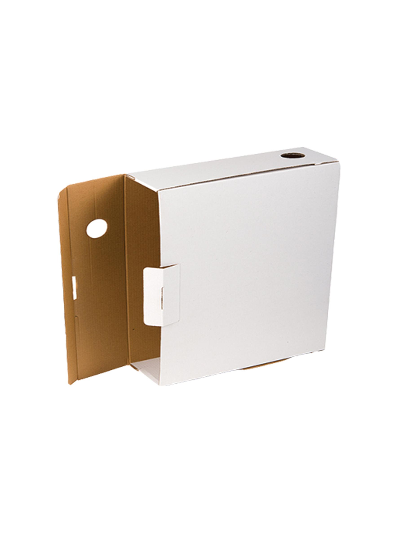 Архивна кутия Economy велпапе 350х250х100мм. цвят бял