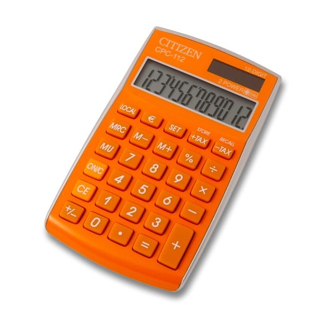 Калкулатор Citizen CPC-112 оранжев