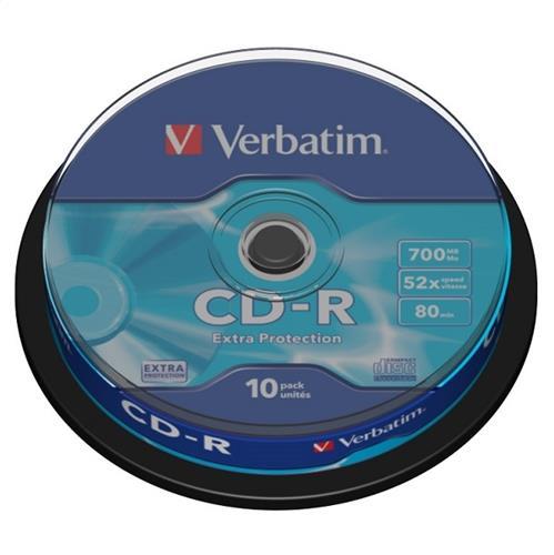 Verbatim CD-R Extra Protection 700MB 52X Cake оп.10бр.