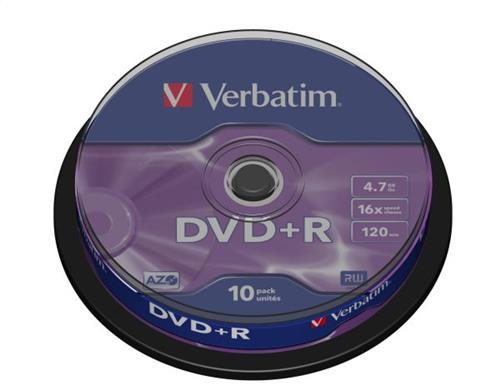 Verbatim DVD-R 4,7GB 16X Cake оп.10бр.