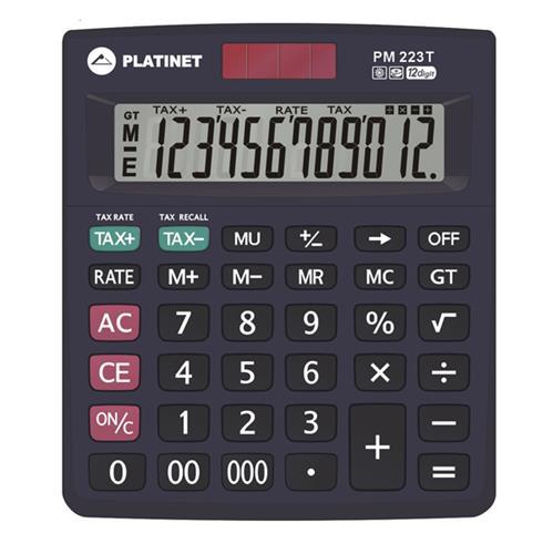 Калкулатор Platinet PM223T 12 разряда, с TAX функция