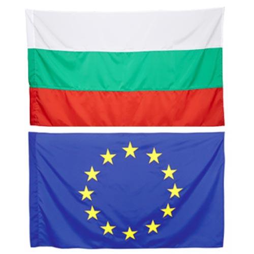 Знамена на България и ЕС 90/150 за външни условия
