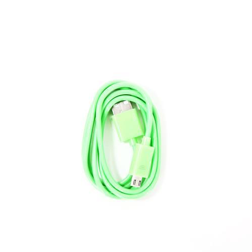 Кабел OMEGA BAJA PVC MICRO USB TO USB & DATA POLY CABLE 1M GREEN/ЗЕЛЕН