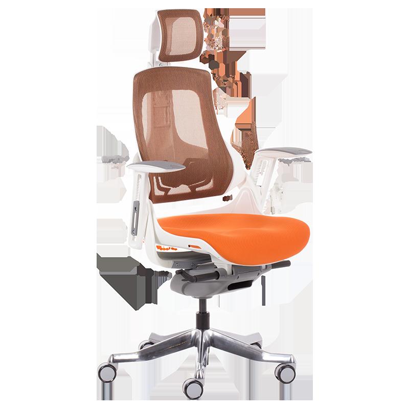 Президентски ергономичен стол Carmen AMBRA оранжев