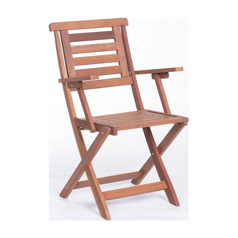 Градински стол с подлакътници Carmen Nils - сгъваем