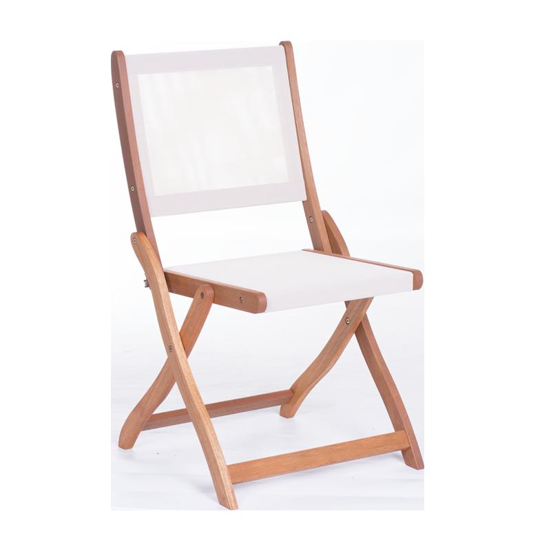 Градински стол Carmen OLAF сгъваем тропическо дърво + текстил