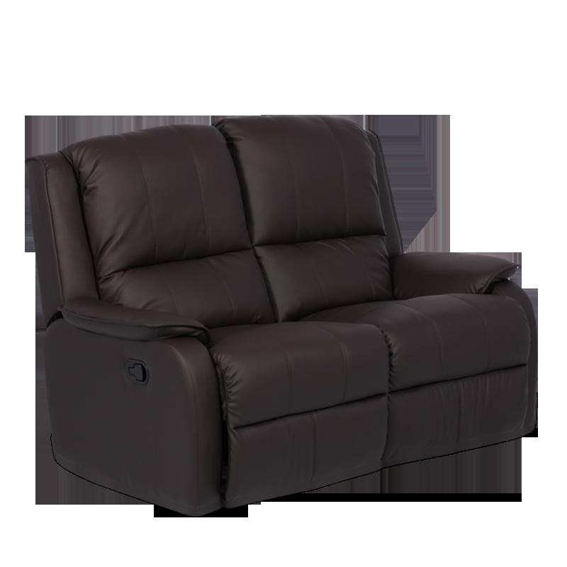 Кожен диван-двойка с релакс механизъм Maya еко кожа - кестен
