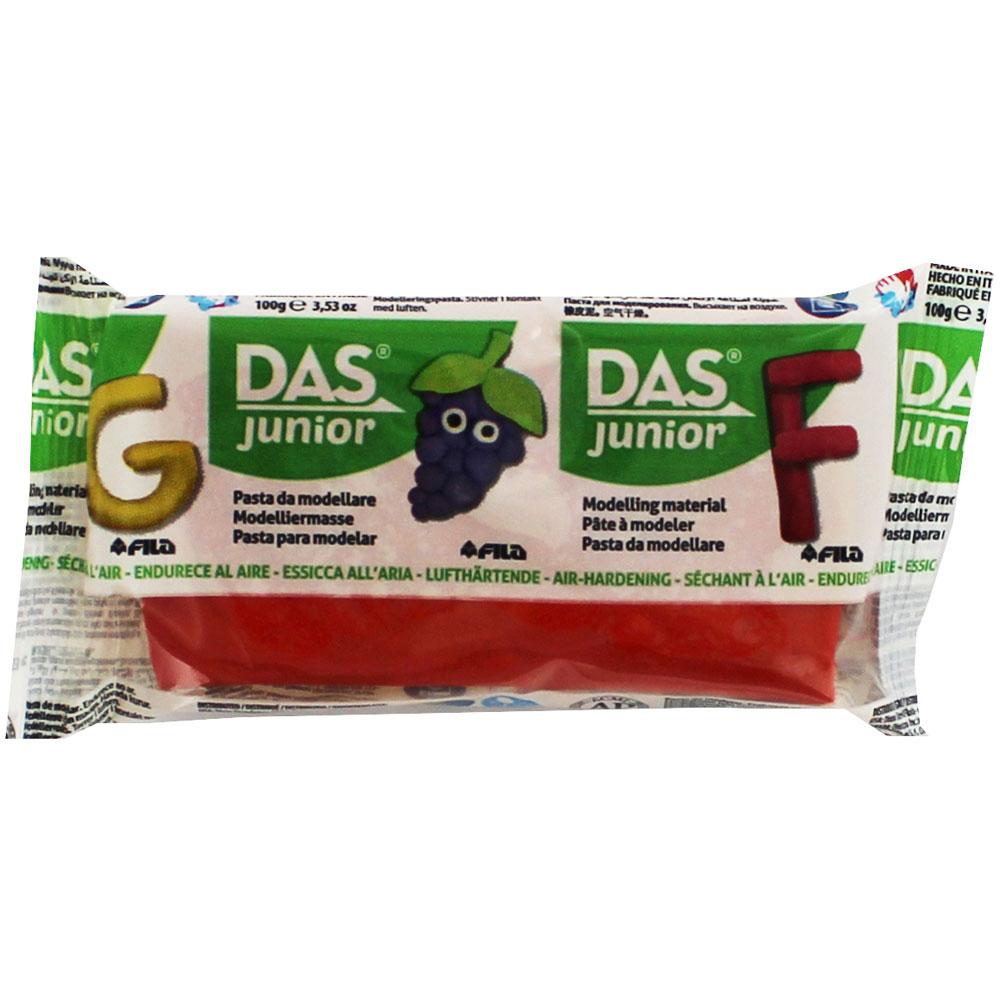 Глина Das Junior 100 гр. червена