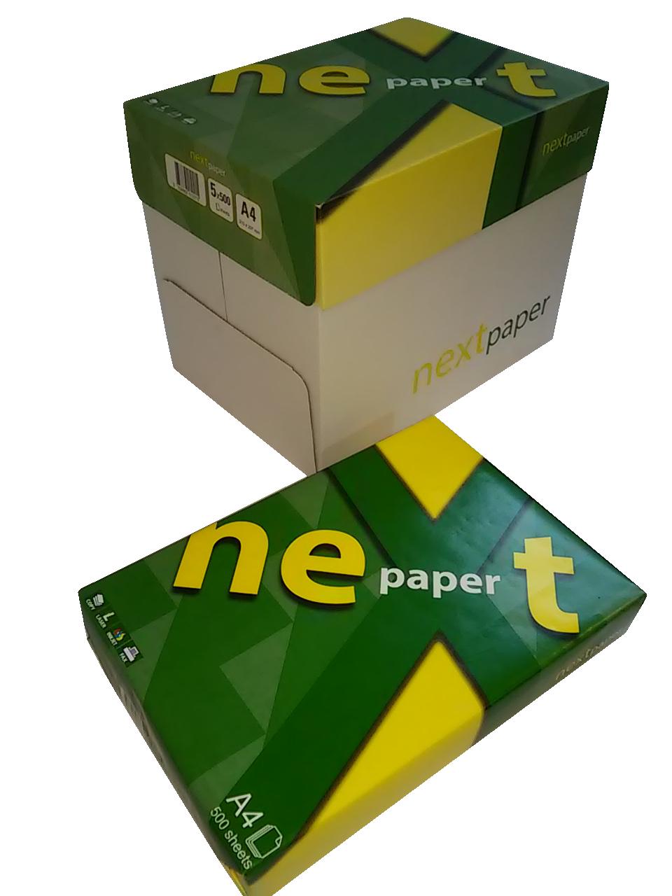 При покупка на съвместима тонер касета, за всяка закупена тонер касета, получавате до 5 пакета копирна хартия Next Paper А4 80гр. 500л. на ПРОМО ЦЕНА