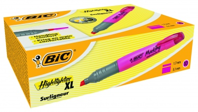 Текстмаркер Bic Brite Liner Grip XL  розов