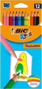 Цветни моливи Bic Tropicolor 12 цвята