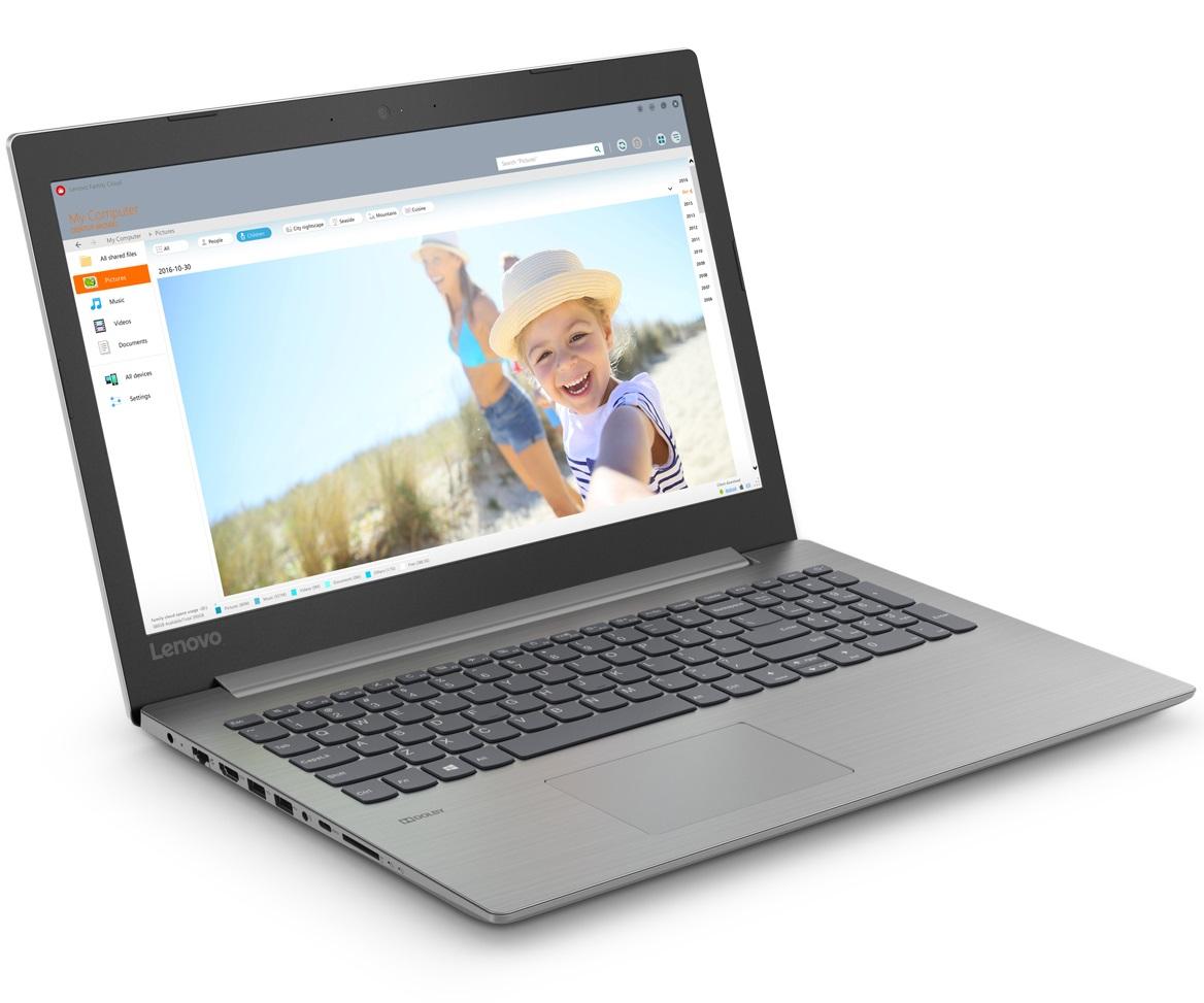 """Лаптоп Lenovo IdeaPad 330 15.6"""" FullHD Antiglare i5-8250U up to 3.4GHz QuadCore, GF MX150 2GB, 8GB DDR4, 1TB HDD, USB-C, HDMI, Gigabit, WiFi, BT, HD cam, Platinum Grey"""