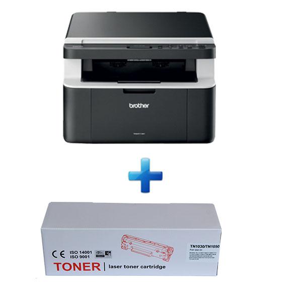 Комплект Лазерно МФУ BROTHER DCP1512E  +  5 броя Тонер касети Brother TN1030