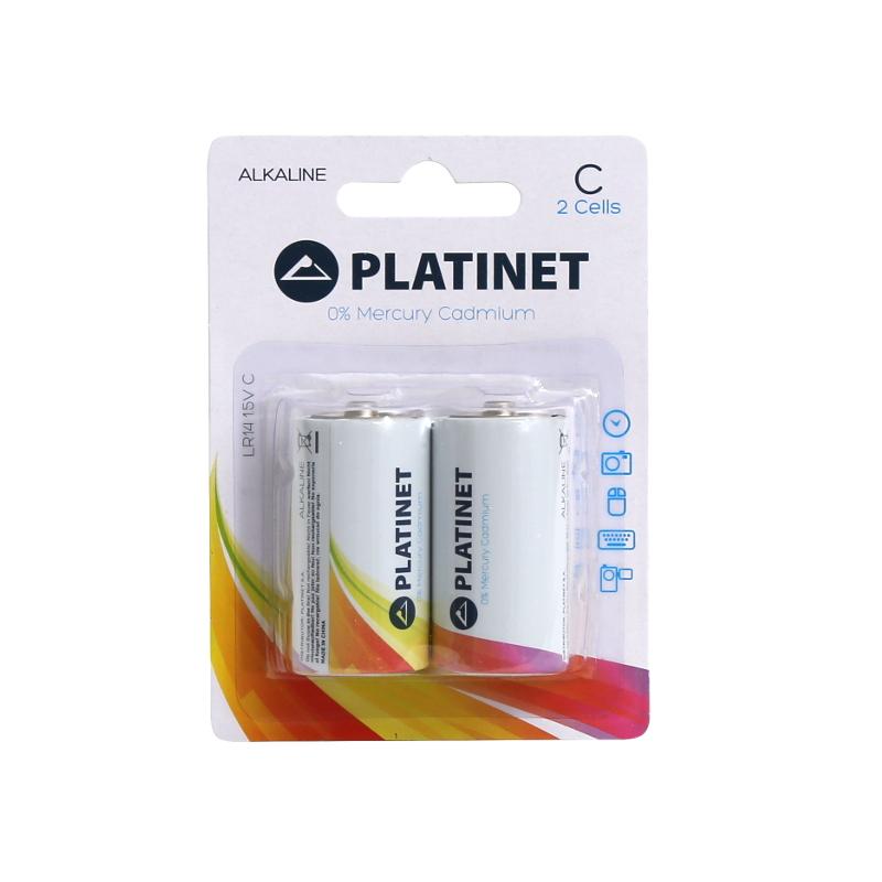 Алкални батерии Platinet LR14 1.5V оп.2