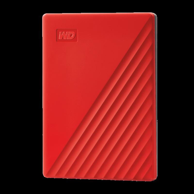 """Външен хард диск 2TB USB 3.2 (Gen1) WD My Passport  2,5""""   Червен"""