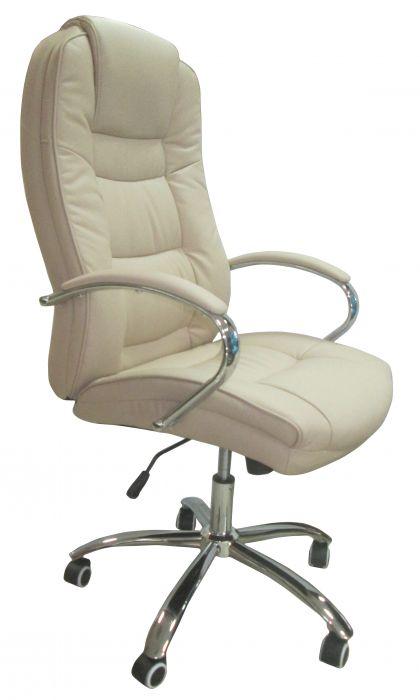 Директорски стол Херкулес до 130кг. еко кожа цвят бежов