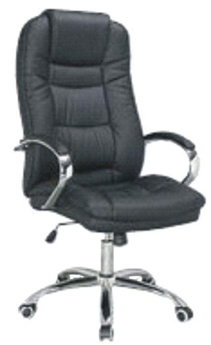 Директорски стол Херкулес до 130кг. еко кожа цвят Черен