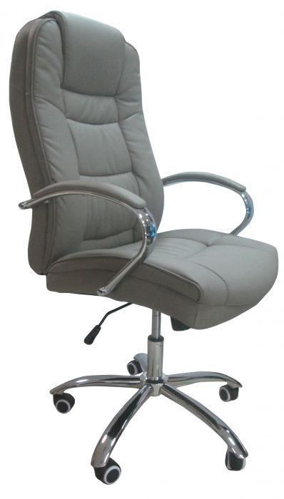 Директорски стол Херкулес до 130кг. еко кожа цвят Сив