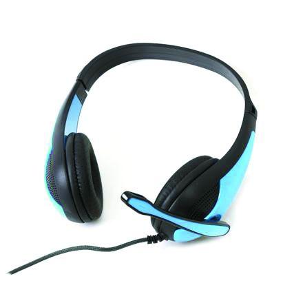 Freestyle стерео слушалки с микрофон и адаптер FH-4008 сини