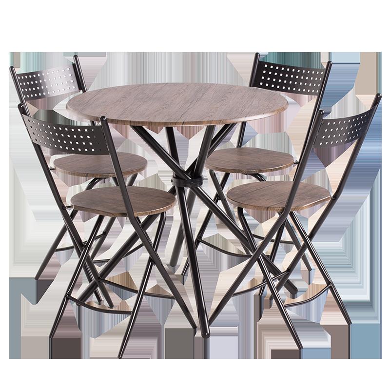Комплект маса с 4 сгъваеми стола Carmen 20016 - орех