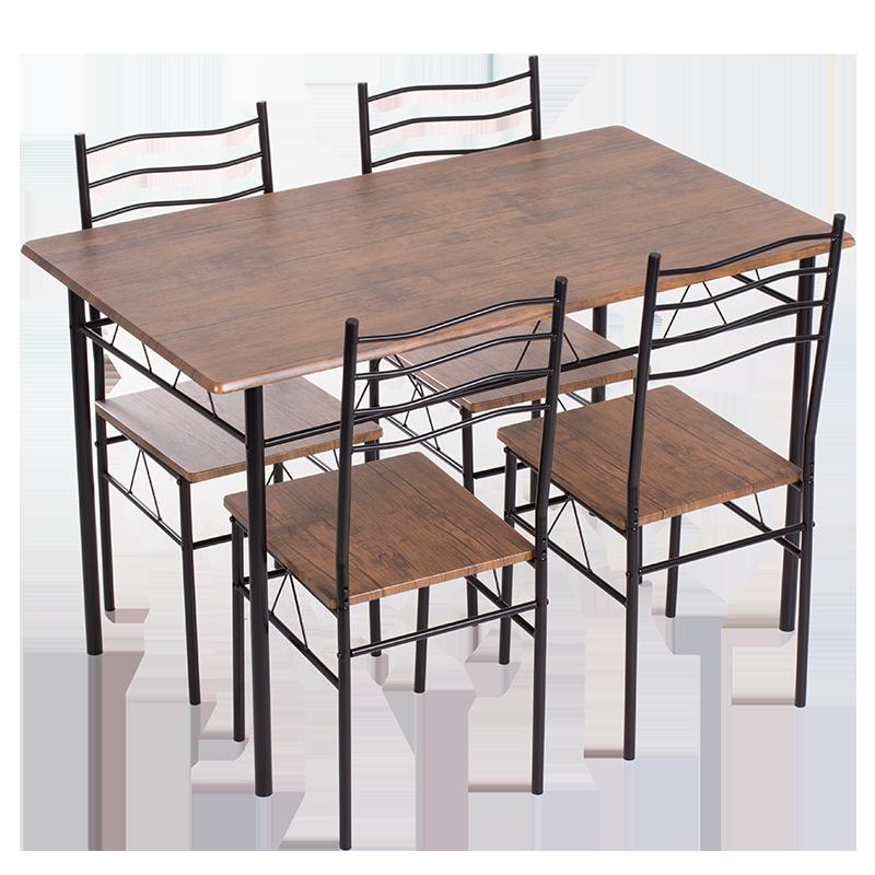 Комплект маса с 4 стола Carmen 20015 - палисандър