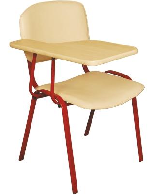 Стол с фиксирана маса за писане и дебела кожа Deste K406