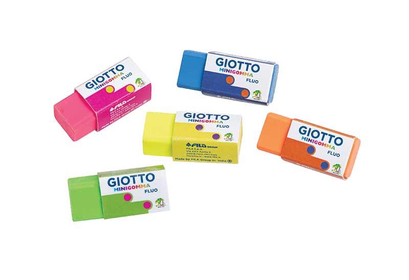 Мини гума Giotto флуоресцентни цветове