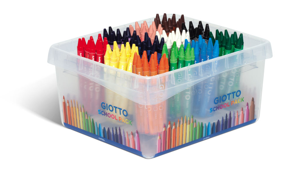 Пастели Giotto Cera School pack 144бр. в 12 цвята