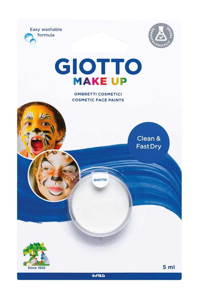 Единична боя за лице Giotto Make Up 5мл. класически цвят Бял