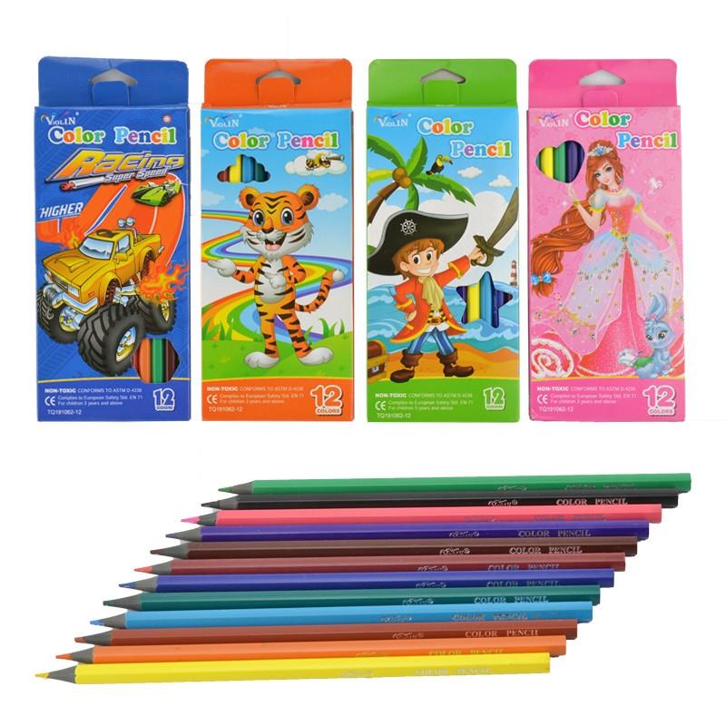 Цветни моливи Violin 3,3мм. 12 цвята