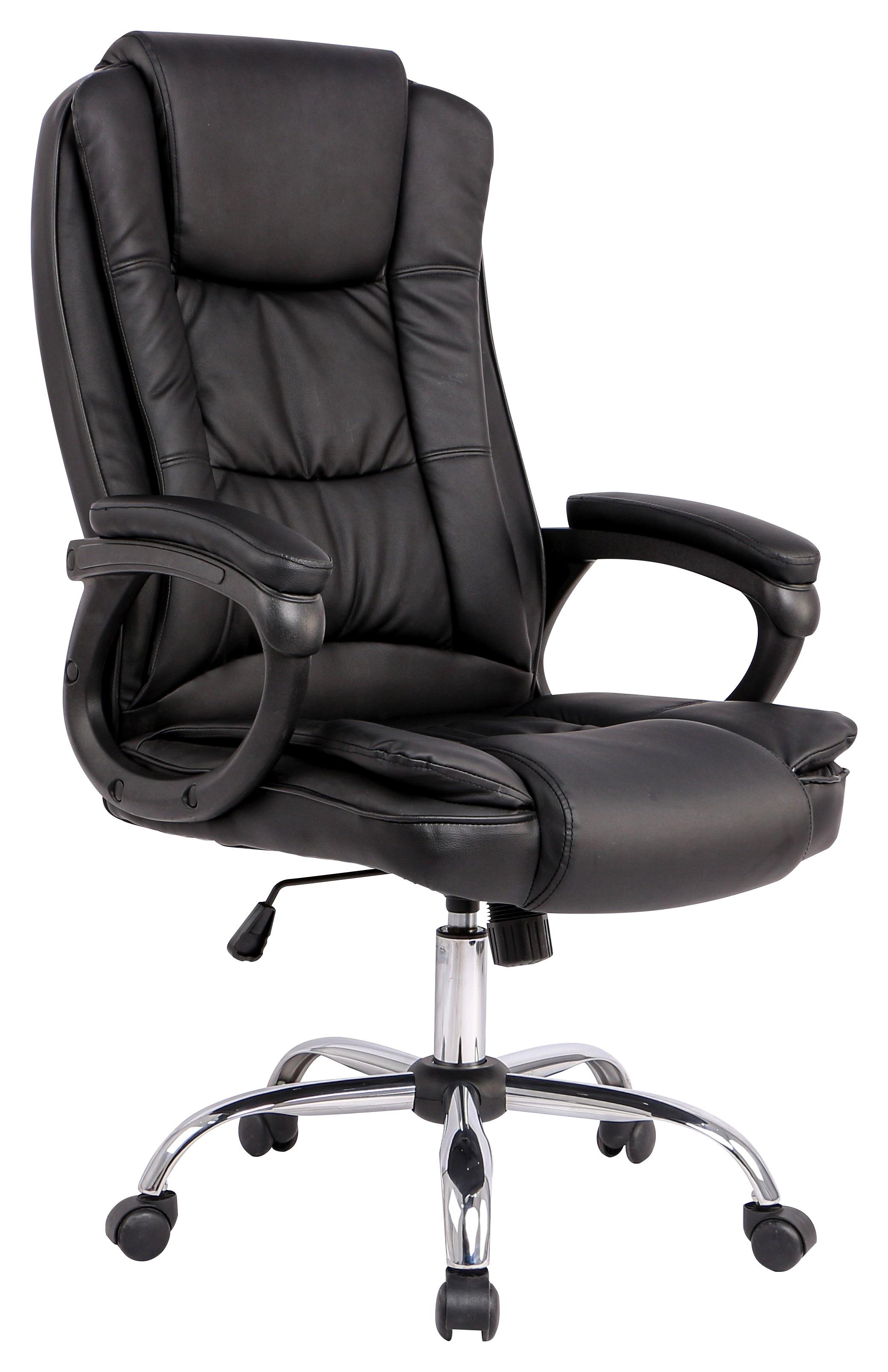 Президентски офис стол Bravas HC-C3351 еко кожа цвят Черен