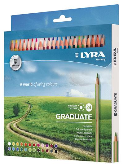 Цветни моливи Lyra Graduate 24 цвята