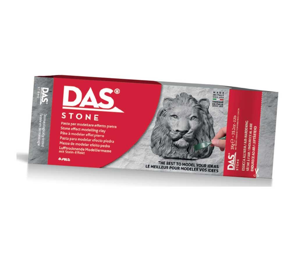 Глина за моделиране DAS Grey Stone, сив камък, 1 кг.