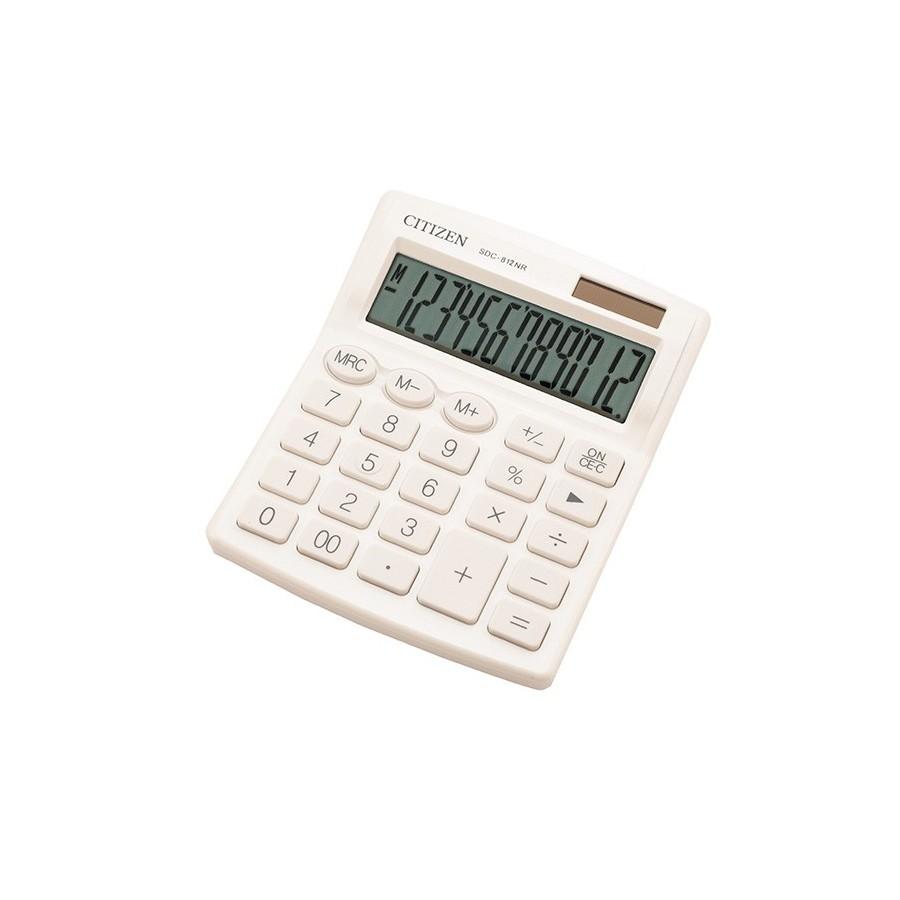 Kалкулатор Citizen SDC-812HR  12 разряден Бял