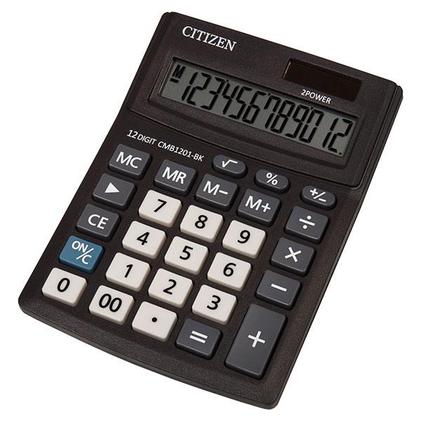 Калкулатор Citizen CDB-1201 BK 12 разряден, Черен
