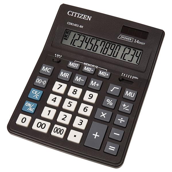 Калкулатор Citizen CDB-1401 14 разряден, BK- черен