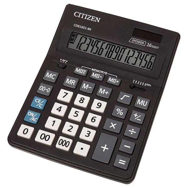 Калкулатор Citizen CDB-1601 16 разряден, Черен