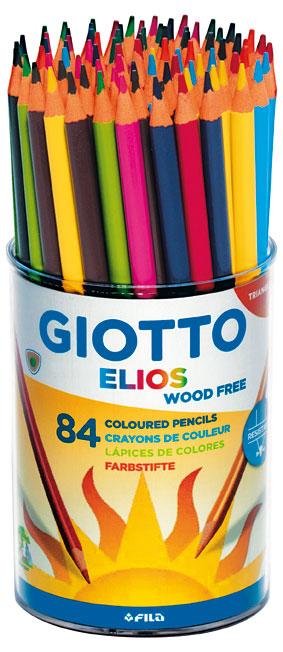 Цветни моливи триъгълни Giotto Elios Tri 84бр.