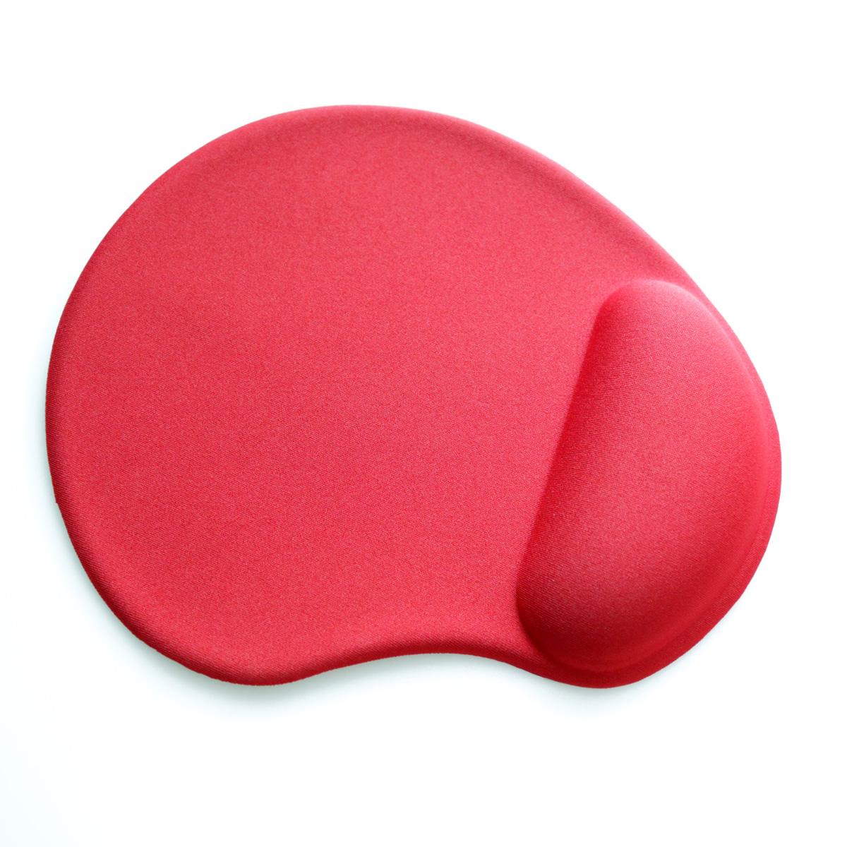 Подложка за мишка ергономична  с гел Omega, цвят Червена