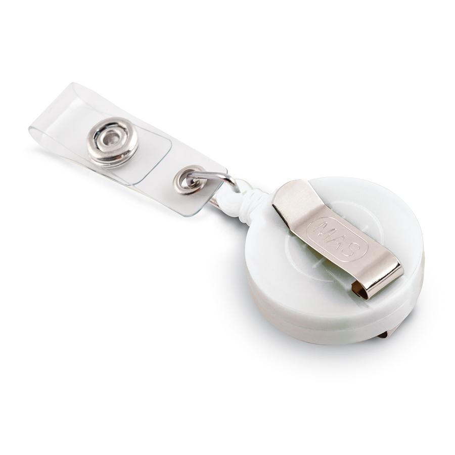 Бадж йо-йо с клипс MAS, модел 3532, 32мм бял