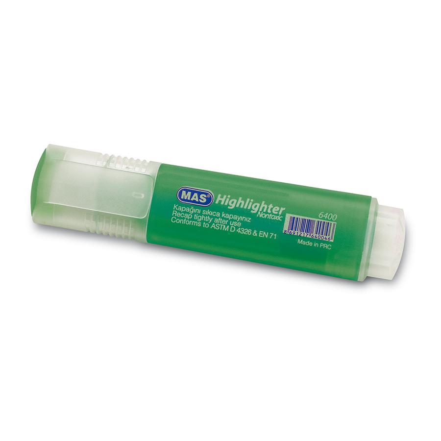 Текст маркер MAS, модел 6400,  зелен