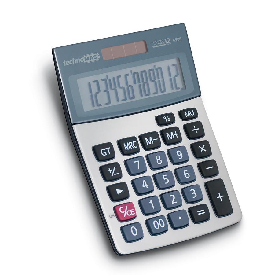 Калкулатор MAS, модел 6908, 12 разряден метален панел 146 х 104мм
