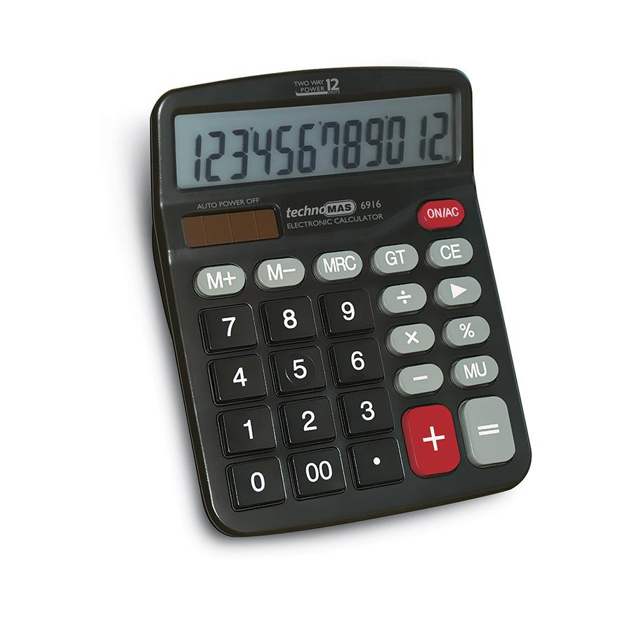 Калкулатор MAS, модел  6916,  12 разряден 155 х 125мм