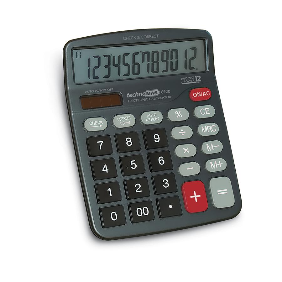 Калкулатор MAS, модел 6920,  12 разряден 185 х 150мм