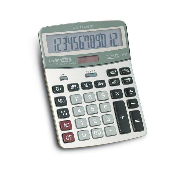 Калкулатор MAS, модел  6922,  12 разряден метален панел 190 х 145мм