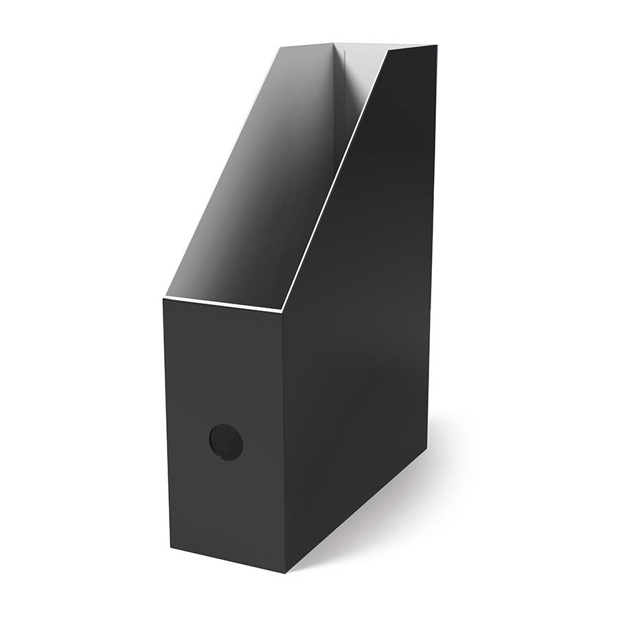 Поставка вертикална картонена MAS, модел 8222,  10.5см оп.4 черна