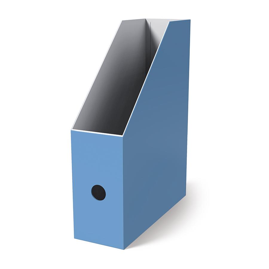Поставка вертикална картонена MAS, модел 8222,  10.5см оп.4 синя